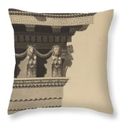Entablature Throw Pillow