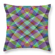 Entangled Curves One Throw Pillow