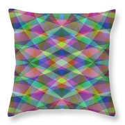 Entangled Curves Two Throw Pillow