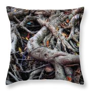 Entanglement Throw Pillow by Donna Blackhall