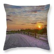 Enter Paradise- Avalon New Jersey Throw Pillow
