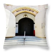 Enter, Rest And Pray Throw Pillow