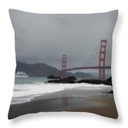 Entering The Golden Gate Throw Pillow