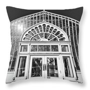 Entering The Greenhouse Throw Pillow