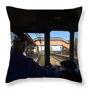 Entering The Station Throw Pillow