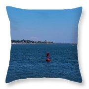 Entering Watch Hill Waters Throw Pillow