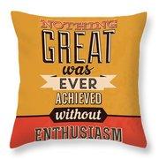 Enthusiasm Throw Pillow
