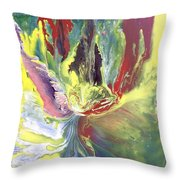 Entity From The Fourth Dimension Throw Pillow