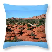 Entrada Sandstone Formations - Arches National Park Throw Pillow