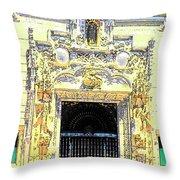 Entrance Casa Grande Throw Pillow