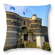 Entrance Gate Of Angers Castle Throw Pillow