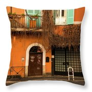 Entrance In Rome Throw Pillow