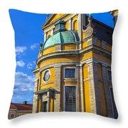 Entrance Kalmar Cathedral Throw Pillow