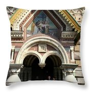 Entrance Resurrection Church Throw Pillow