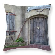 Entrance To An Old Chandlery Throw Pillow
