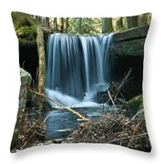 Entrance To Ancient City Of Drvexyana Throw Pillow