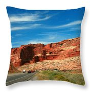 Entrance To Arches National Park Throw Pillow