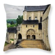 Entrance To Fontevraud Abbey Throw Pillow