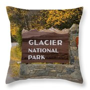 Entrance To Glacier Throw Pillow