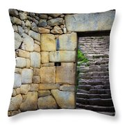 Entrance To Machupicchu Throw Pillow