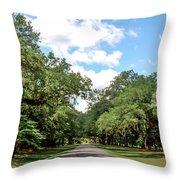 Entrance To Mepkin Abbey Throw Pillow
