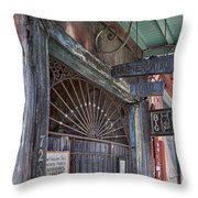 Entrance To Preservation Hall, New Orleans Throw Pillow