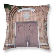 Entrance To Temple Throw Pillow