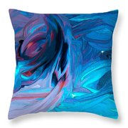 Entrance To The Blues Throw Pillow