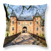 Entrance To The Castle, Belgium Throw Pillow