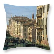Entrance To The Grand Canal Looking West Throw Pillow