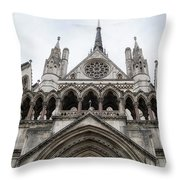 Entrance To The Royal Courts London Throw Pillow