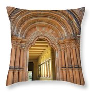Entry Cross-coat  Throw Pillow