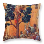 Entry Into Jerusalem Fragment 1311 Throw Pillow
