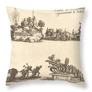 Entry Of His Highness, Representing The Sun Throw Pillow