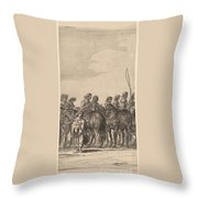 Entry Of Marie De Medici Into Amsterdam [plate 5 Of 6] Throw Pillow