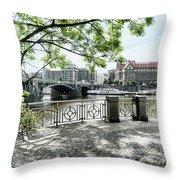Entry To Prague Throw Pillow