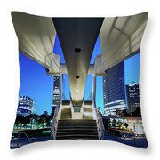 Entry To The City Throw Pillow