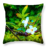 Entwined Chiaroscuro Throw Pillow
