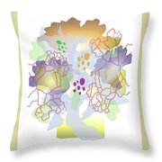 Enviro-web Florescence II Throw Pillow