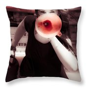 Environmental News Announcement Throw Pillow