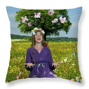 Eostre Throw Pillow