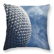 Epcot Architecture Throw Pillow