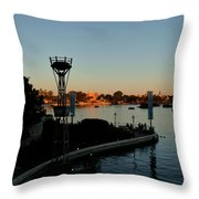 Epcot At Dusk Throw Pillow