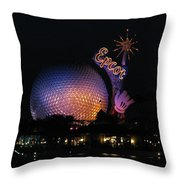 Epcot At Night II Throw Pillow