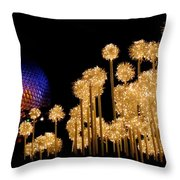 Epcot Christmas Night Throw Pillow