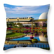 Epcot - Disney World Throw Pillow by Michael Tesar