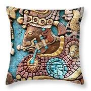 Epcot Mayan Warrior Throw Pillow