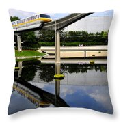 Epcot Reflections Throw Pillow