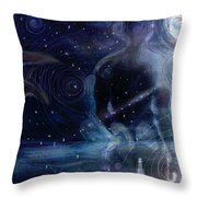 Ephemeral And Illusionary Existence Throw Pillow