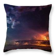 Epic Nebraska Lightning 004 Throw Pillow